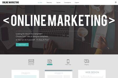 Online Marketing Publicidad Branding Concept Comercio