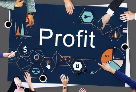 ganancias: Profit Benefit Revenue Earnings Gain Gross Income Concept