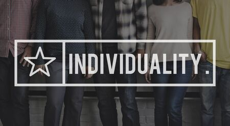 Individuality Character Independence Different Distinction Concept Stock Photo