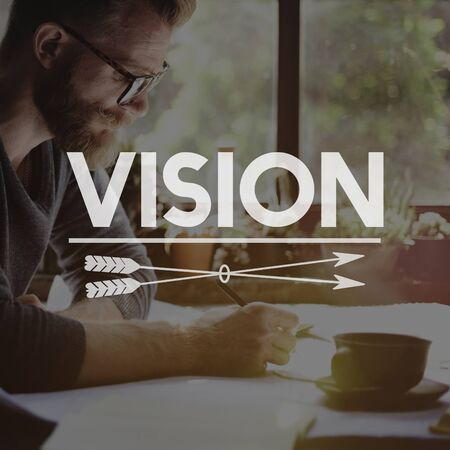 target thinking: Vision Direction Aspirations Future Goals Ideas Concept