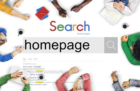 Homepage Address Online Technology Www Concept Stock Photo