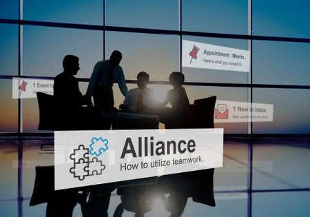 alliance: Alliance Merge Partnership Collaboration Concept
