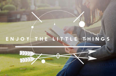 positivity: Enjoy Little Things Positivity Happiness Concept