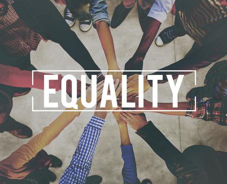 Gelijkheid Uniformiteit Fairness Rights justitie Concept Stockfoto