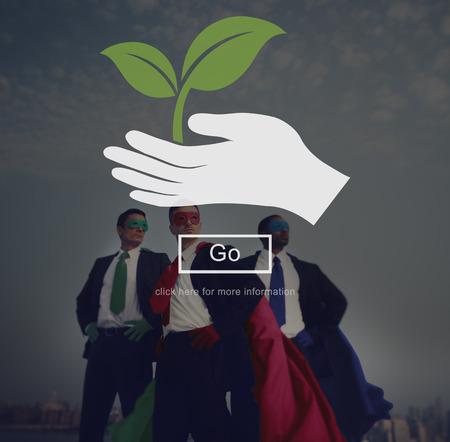 environmentalist: Environment Nature Plant Saving Life Concept