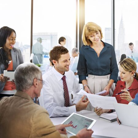 reunion de trabajo: Trabajo Debate Team Concept Gente Negocios Oficina Foto de archivo