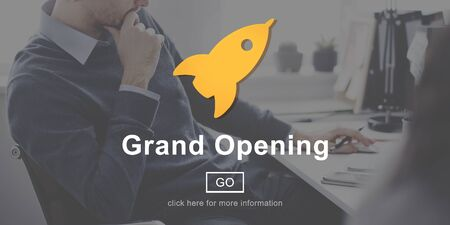 commence: Grand Opening Launch Start Icon Concept