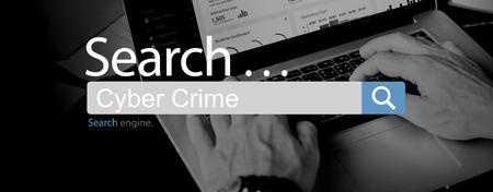 crime: Cyber Crime Computer Attack Malware Concept Stock Photo