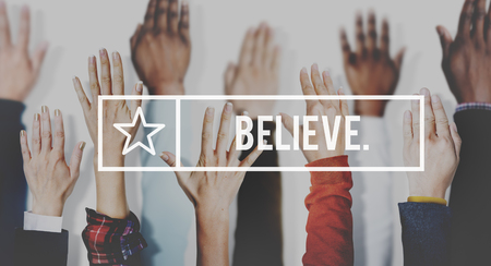 optimismo: Cree la esperanza Fe Confianza El optimismo Concept