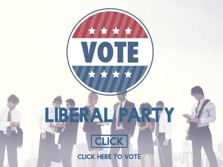 liberal: Liberal Party Election Vote Democracy Concept Stock Photo