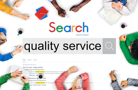 rank: Quality Service Rank Customer Satisfaction Care Concept