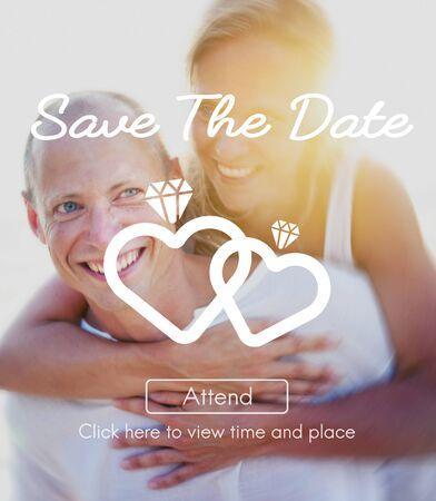 romantic: Couple Wedding Married Relationship Romantic Concept Stock Photo