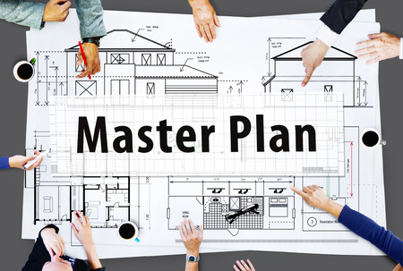 master: Master Plan Strategy Vision Tactics Design Planning Concept Stock Photo