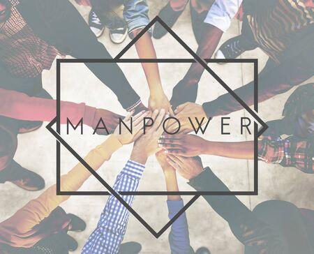manpower: Manpower Management Agreement Collaborate Concept
