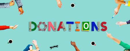 give charity: Donate Give Charity Help Contribute Concept