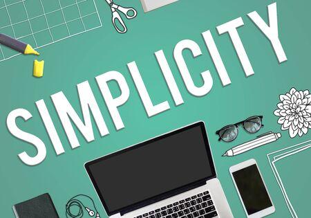easiness: Simplicity Minimal Simple Effortleness Modern Concept