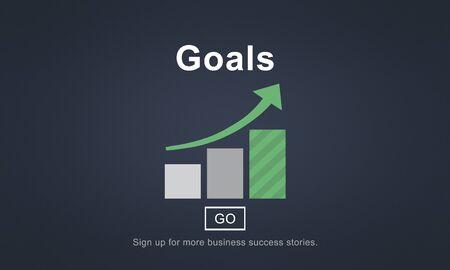 aspirational: Goals Aspiration Dreams Believe Aim Target Concept