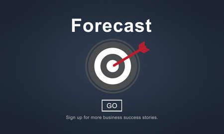 predicting: Forecast Prediction Plan Goal Concept Stock Photo