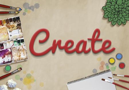 Create art concept