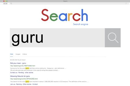 influential: Global Search Website Browser Guru Concept Stock Photo