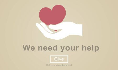 organ donation: We Need Your Help Welfare Donation Concept Stock Photo