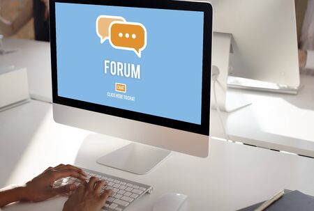 chat group: Discuss Forum Chat Group Topic Concept