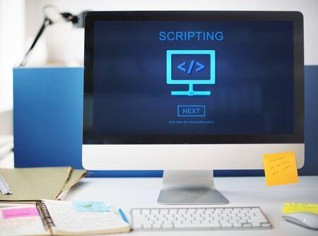 scripting: Scripting Programming Technology Information Concept