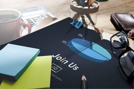 company: Join us Headhunting Company Hiring Concept Stock Photo