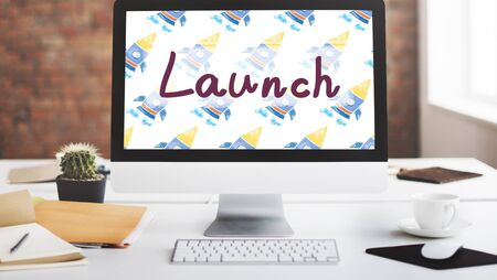 introduce: Launch Begin Introduce Startup Campaign Kick Off Concept