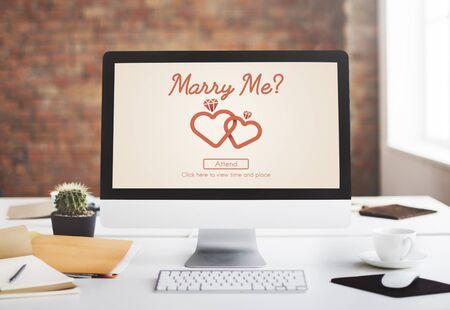 marry me: Marry me Love Heart Inscription Concept