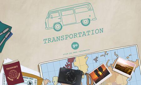 transported: Transportation Transport Vehicle Automobile Concept Stock Photo