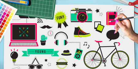 newage: Youth Social Media Technology Lifestyle Concept