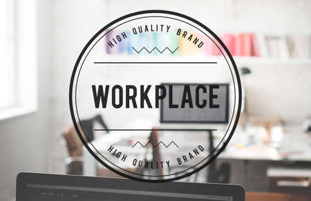 office space: Wokrplace Business Office Space Working Desk Concept Stock Photo