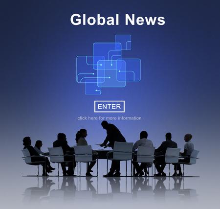 news online: Global News Online Technology Update Concept