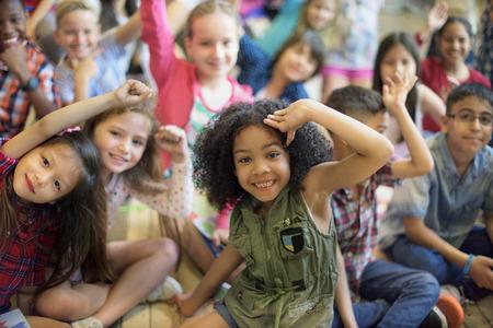 Diversiteit Diverse Etniciteit Etnische Kids Offspring Concept
