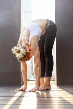 poses: Beautiful Calm Energy Fitness Relaxation Practice Concept
