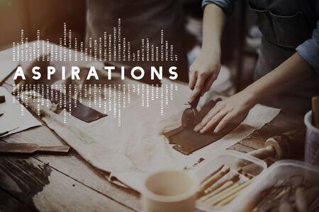 aspiration: Aspiration Imagination Inspiration Dream Goal Concept