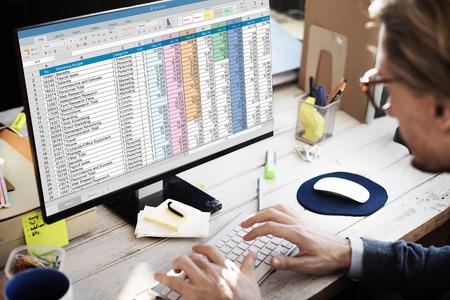 hoja de calculo: Concepto de hoja de c�lculo de informaci�n del documento financiero de inicio