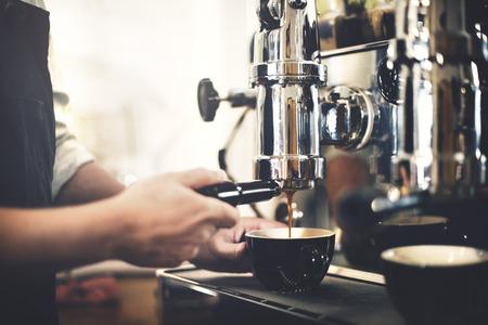Barista Cafe Making Coffee Preparation Service Concept Reklamní fotografie