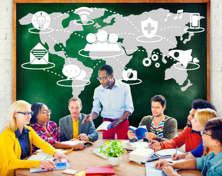 Social Network Sharing Global Communications Connection Concept Stock Photo