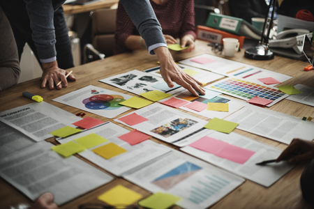 Affaires Réunion de l'équipe de planification du projet Concept Banque d'images
