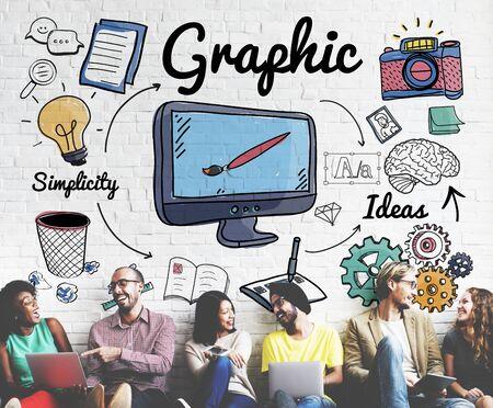 diversidad: Gráfico Concepto Visual Art Creative Design Foto de archivo