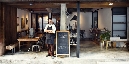 Conceito Coffee Shop Cafe propriet Imagens