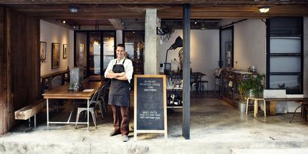 Concetto Coffee Shop Caffè Servizio proprietario