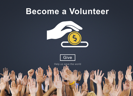 Become a Volunteer Support Service Relief Concept