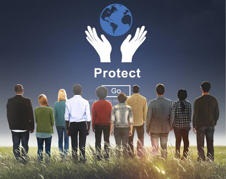 protect: Protect Saving Security Safety Prevention Protection Concept Stock Photo
