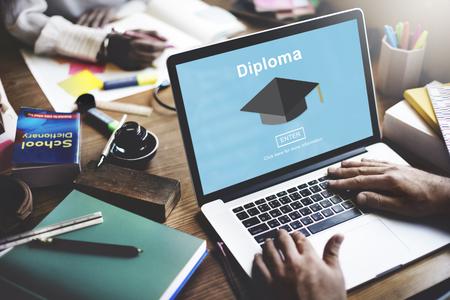 school campus: Degree Diploma High School Educational Concept