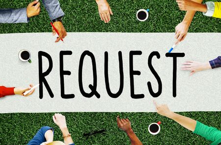 require: Request Require Desire Need Order Demand Concept Stock Photo