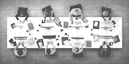 Réunion D'affaires Discussion de travail Bureau Concept Banque d'images