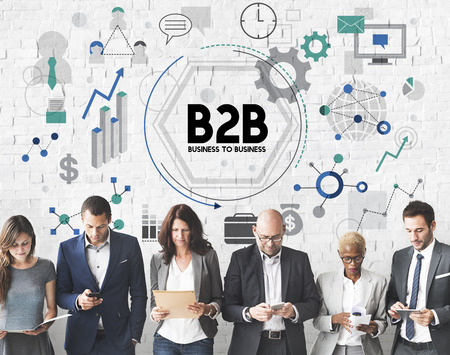b2b: B2B Business to Business Partnership Concepto Conexi�n,